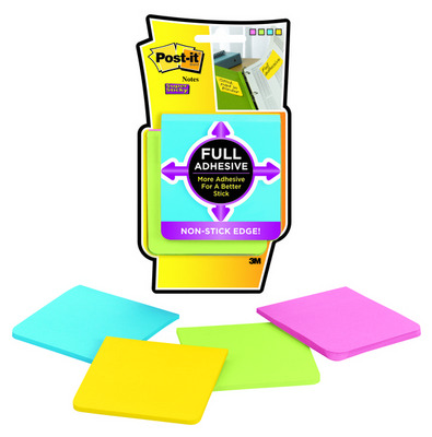 3M 3X3 Lined Ultra Post It Notes (Assorted Colors)