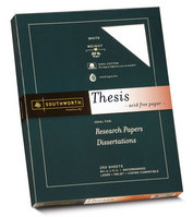 Thesis Paper White 100% Cotton 20# 250 Sheet