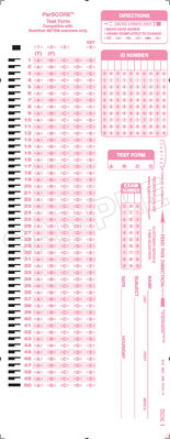 Scantron Form X 101864 PAR L