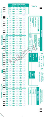 Scantron Form 882 E