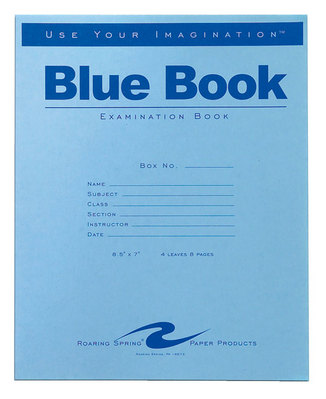 College essays blue books