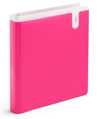 Poppin 1 inch Pocket Binder, Pink 1