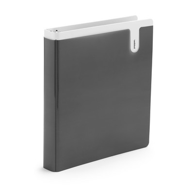 Poppin 1 inch Dark Gray Binder