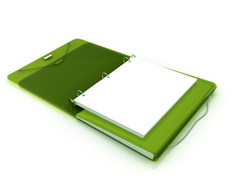 Samsill DUO Binder, Green