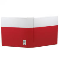 White  Non Imprint Binder With Orange Pocket