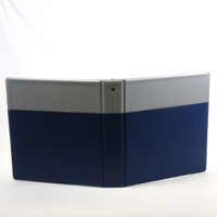 Silver Non Imprint Binder With Maroon Pocket