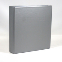 Four Point 1.5 inch Imprinted Vinyl Binder, Silver