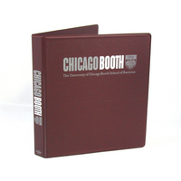 Four Point 1 inch, 2 Color Imprinted Vinyl Binder, Maroon