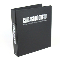 Four Point 1.5 inch, 2 Color Imprinted Vinyl Binder, Black