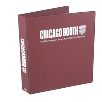 Four Point 1.5 inch, 2 Color Imprinted Vinyl Binder, Maroon