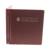 Four Point 1 inch Imprinted Vinyl Binder, Angle D Ring