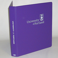 Four Point 1 inch Imprinted Vinyl Binder