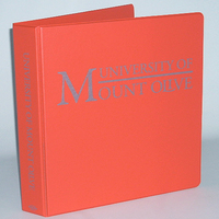 Four Point 1.5 inch Imprinted Vinyl Binder, Orange