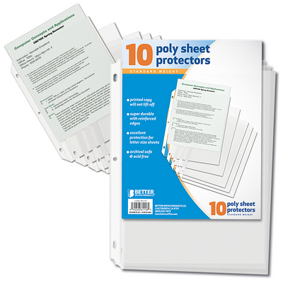 Better Poly Sheet Protector, 10 Count