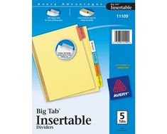 Avery Big Tab Insertable Plastic Dividers