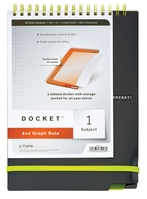 Tops Docket Top Wire 1 Subject Quad Notebook