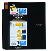 Five Star 3 Subject Advanced Notebook with Pockets and Index Cards (Assorted Colors)