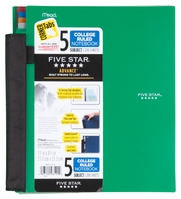 FIVE STAR 5 SUBJECT ADVANCED NOTEBOOK WITH POCKETS AND INDEX CARDS (ASSORTED COLORS)