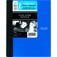 Five Star 2 Subject Advanced Notebook with Pockets and Index Cards (Assorted Colors)