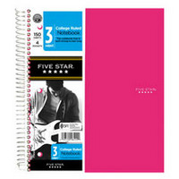 Five Star Trend Wirebound Notebook, 3 Subject, CR