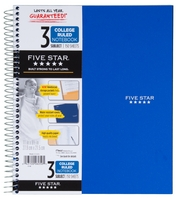 Five Star 3 Subject Wirebound Trend Notebook (Assorted Colors)