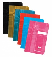 The classic Clairefontaine staplebound notebook in assorted colors.