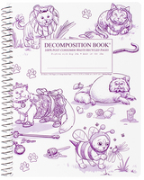 Costume Cats Coilbound Decomposition Book Lined 7.5x9.75