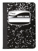 Mead Square Deal Black Marble Memo Book
