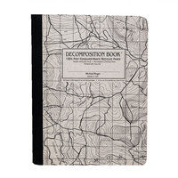 Topographical Map Decomposition Book with Grid Pages