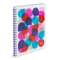 Poppin Purple Kaleidoscope 1 subject Notebook