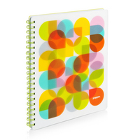 Poppin Lime Kaleidoscope 1 subject Notebook