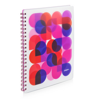 Poppin Pink Kaleidoscope 1 subject Notebook