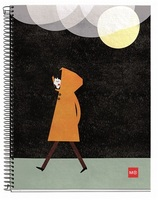 Miquel Rius Rainy Night Recycled 4 Subject Notebook
