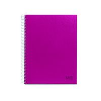 Miquel Rius A5 1 Subject Spiral Notebook, Raspberry