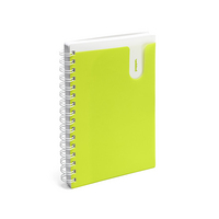 Poppin Medium Pocketbook Notebook, Lime