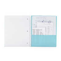 Poppin 3 Subject Pocketbook Notebook, Aqua