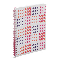 Poppin 1 Subject Spiral Notebook, Pink Shadow Dot