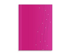 Pierre Belvedere Large Bound Journal, Pink Rhinestone