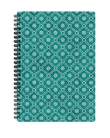 Pierre Belvedere Printed Large Hard Cover Wirebound Journal, Green Star