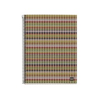 Miquel Rius Recycled Kaleidoscope 4 Subject Notebook, Medium