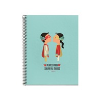 Miquel Rius My Plans to Save the World 4 Subject Notebook, Medium