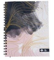 Denik Large Marble Foil Spiral Notebook