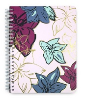 Vera Bradley Mini Notebook, Falling Flowers Neutral