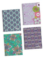Top Flight Petals & Stripes 1 Subject Notebook (Assorted Patterns)