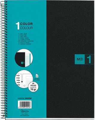 Miquel Rius Turquoise 1 Subject Notebook