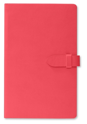 Pierre Belvedere Medium Clasp Journal, Coral