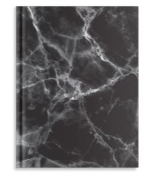 Pierre Belvedere Large Notebook Black Marble