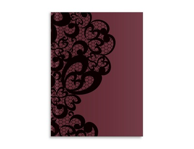 Pierre Belvedere Goth Opulence Large Notebook, Lace Burgundy