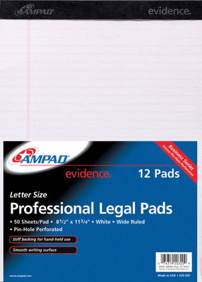 Pad85X1175 Perforated Top White 50 Sheets