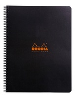 Wirebound Rhodia notebook with Black cover.